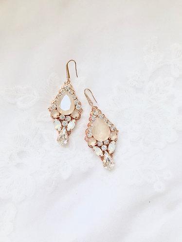 FARRAH: Jeweled Champagne Earrings