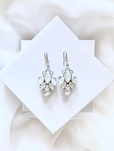 TERESA: Opal Bridal Earrings