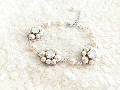 CLARA: Swarovski Pearl Jeweled Bracelet