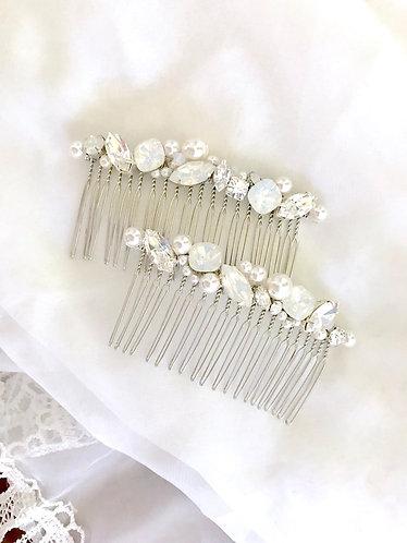 ELISE: Swarovski Beaded Decorative Bridal Comb