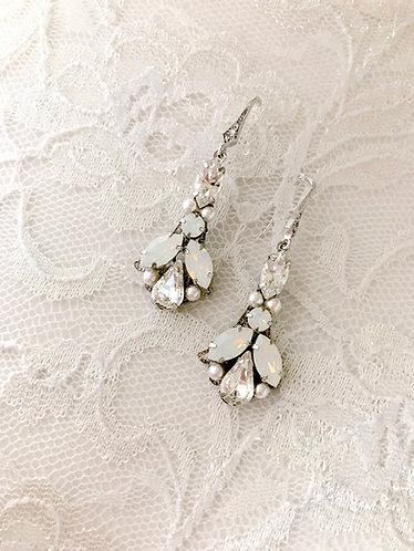 DELPHINE: Elongated Opal Earrings