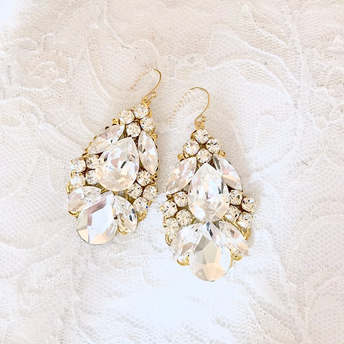 MONICA: Large Statement Earring Sparklers