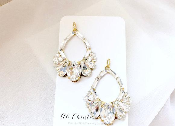 PETRA: Crystal Chandelier Hoop Earrings