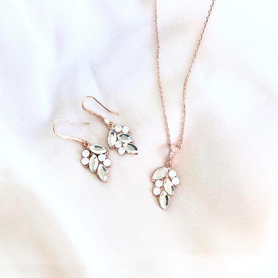 Leaf Bridal Jewelry Set