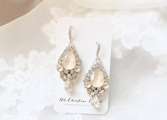 JUDITH: Ivory Swarovski Bridal Earrings