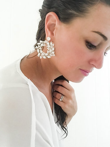 BLAIRE: Swarovski Rhinestone Hoop Earrings