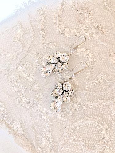 ISOBEL: Classic Rhinestone Bridal Earrings