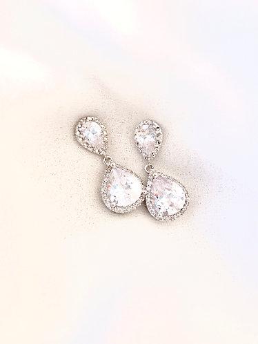 SPECIAL PRICE: SS Nickel Free CZ Rhinestone Earrings