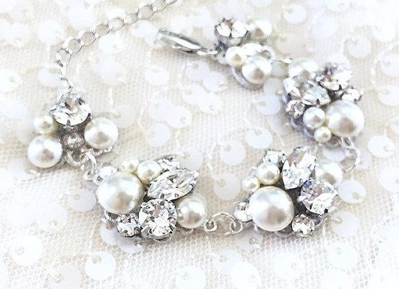 HEAVEN Bracelet: Cluster Pearl & Rhinestone Bracelet
