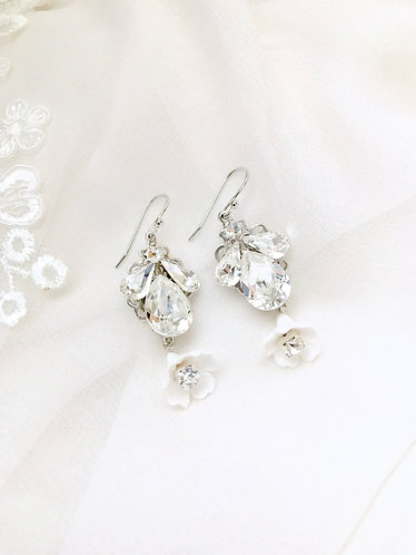 POSY: Swarovski Floral Earrings