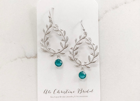 BLUE ZIRCON VINE Earrings