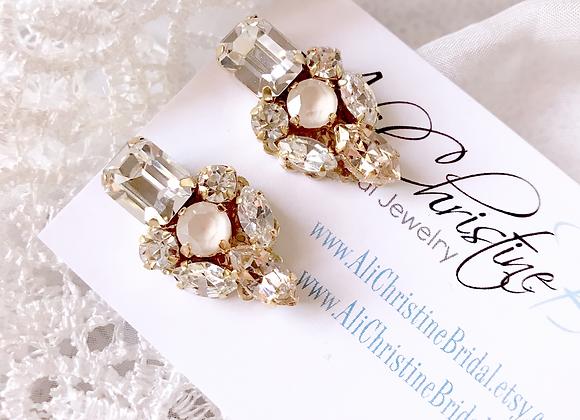 SEDONA: Blush Bridal Earrings