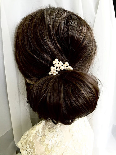 ADALADE: Swarovski Cluster Spray Pearl Hair Pin