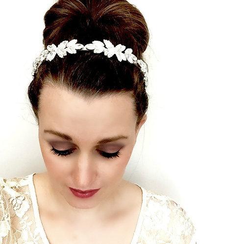 Rhinestone Arrow Bridal Hair Wreath- Headband