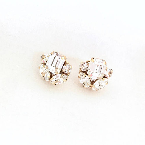 LEXA: Swarovski Rhinestone Stud Earrings