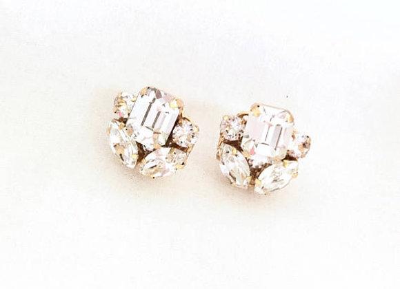 LEXA: Swarovski Rhinestone Stud Earrings