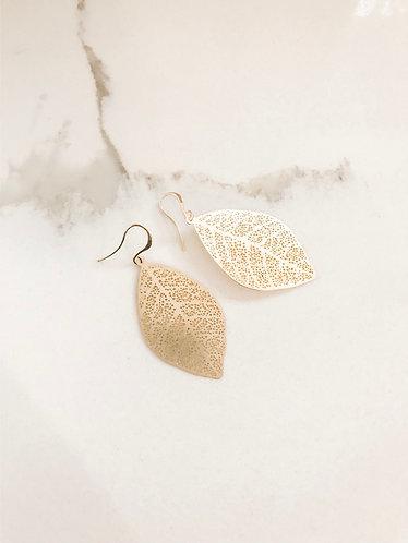 GOLD FILIGREE LEAF Earrings *BEST SELLER*