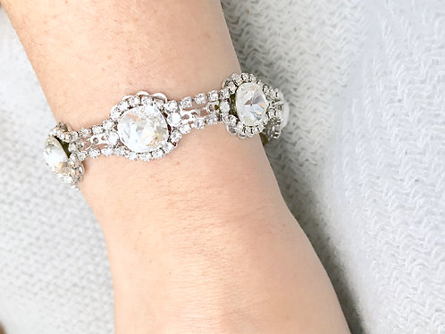 LUCY: Swarovski Crystal Cuff Bracelet