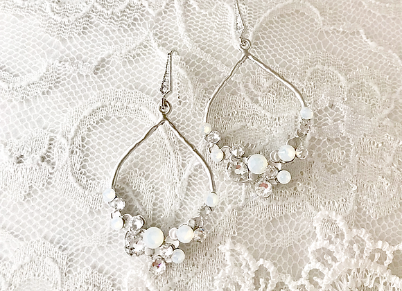 BUBBLY: Opal Hoop Bridal Earrings
