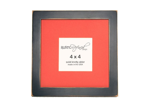 "8x8 1"" Gallery Picture Frame - Black - 4x4 Persimmon Matte"
