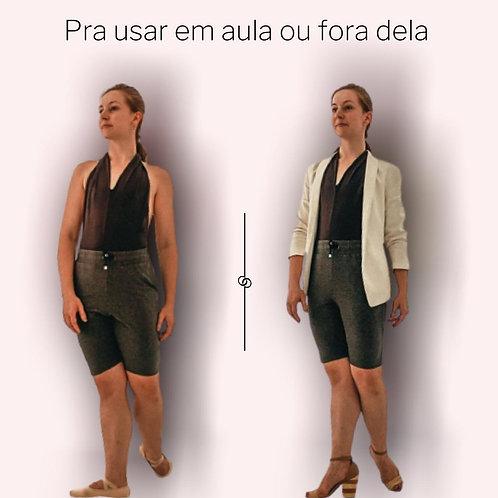 Shorts Cinza Moleton Feminino