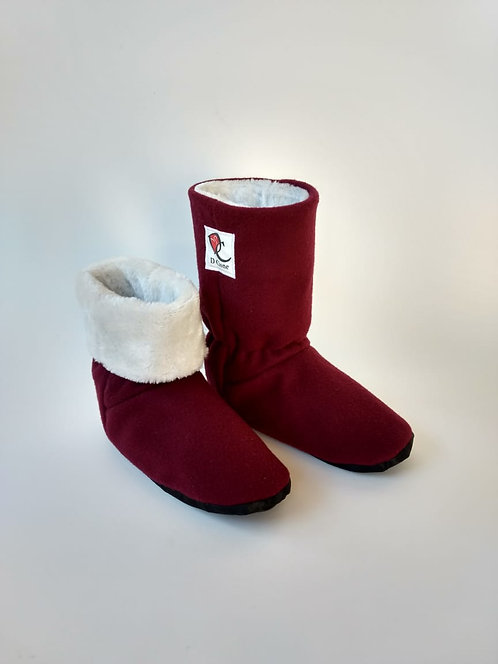 Bota Polar Bordo Soft /Branco Pele 6mm