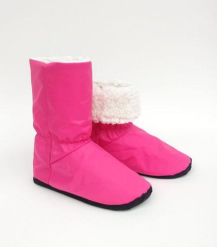 Bota Polar Rosa Pink Nylon/Branco Carrapinha