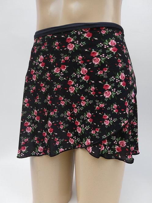 Saia- Estampa Floral  - Flor Rosa Longa