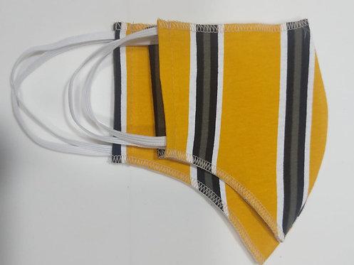 Máscaras Amarelo- Listras Pretas