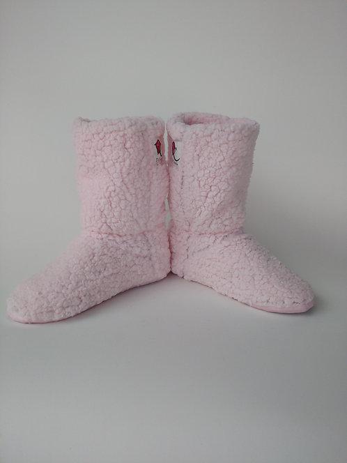 Bota Polar Rosa Bebê Carrapinha