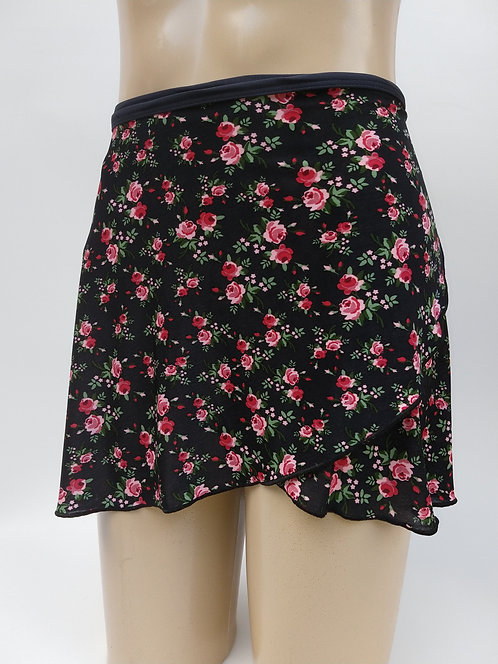 Saia- Estampa Floral  - Flor Rosa