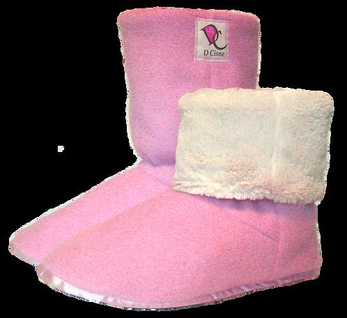 Bota Polar Rosa Bebê Soft /Branco Pele 6mm