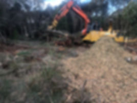 on site wood chipping tasmania mulch