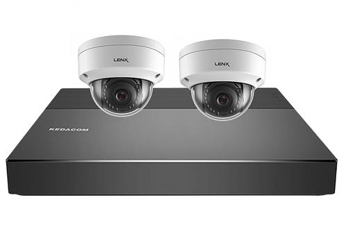 KEDACOM  Sistema de CCTV IP - NVR com 2 câmaras Megapixel