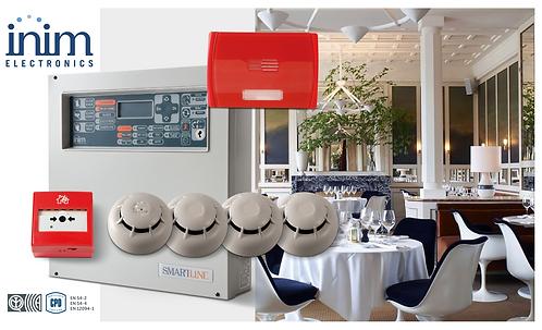 INIM Smart Line Sistema convencional de deteção de incêndio 4 a 20 Zonas