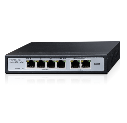 Switch PoES-0460C+2 4+2-Port 10/100Mbps PoE