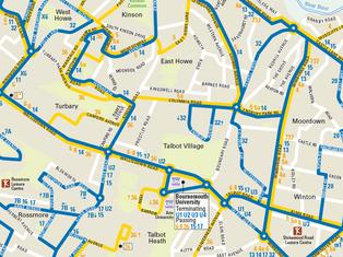 Bournemouth Bus Map