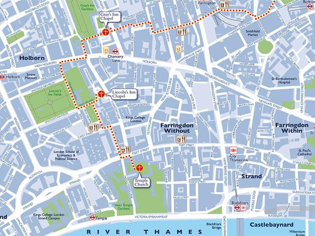 Hidden Churches Walking Map