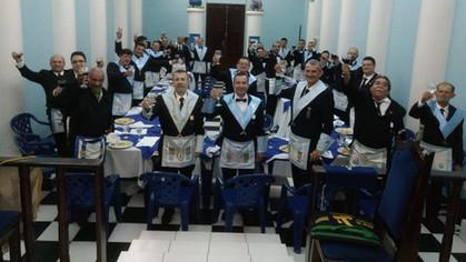 GBLS Estrela da Fraternidade n°15 e BLS Sagrada Família n°35 realizam um Banquete Ritualístico.