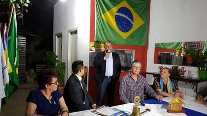 Delegado da Região 01 representa o Sereníssimo Grão-Mestre na posse do novo presidente do Rotary Clu