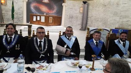 Sessão Conjunta das lojas de Ariquemes para Banquete Ritualístico.