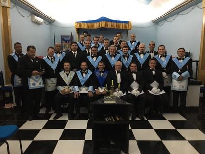 Iniciação de 3 novos Obreiros da BLS Sagrada Família nº 35