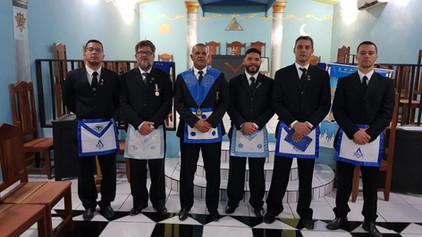 Filiação de 4 novos obreiros na ARLS Ricardo Ramirez Pavon Nº 42.