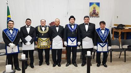 Loja Rei Salomão Nº 43 comemora 1 ano de criação com a realização da primeira Iniciação da Loja.
