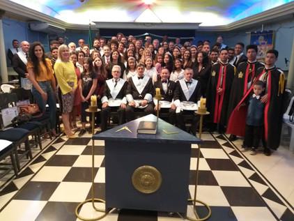 Loja Suprema Razão N° 25 realiza Sessão Pública, em comemoração de seus 20 anos.