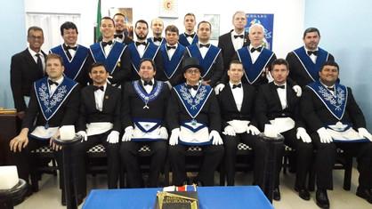 Sessão Magna Conjunta de Passagem de Grau Lojas Vale do Jamari Nº 38 e Rei Salomão Nº 43.