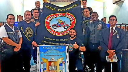 Visita dos irmãos Bodes do Asfalto sub sede Porto Velho a Loja Ricardo Ramirez Pavon 42 em Itapuã do