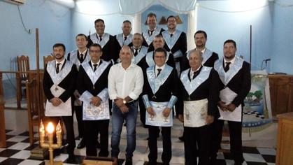 A.R.B.L.S.Pedreiros de Machado Nº 27 recebe a visita do prefeito  de Machadinho D'Oeste em Loja.