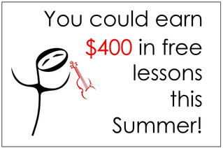 You could earn up to $400 in free lessons this Summer!