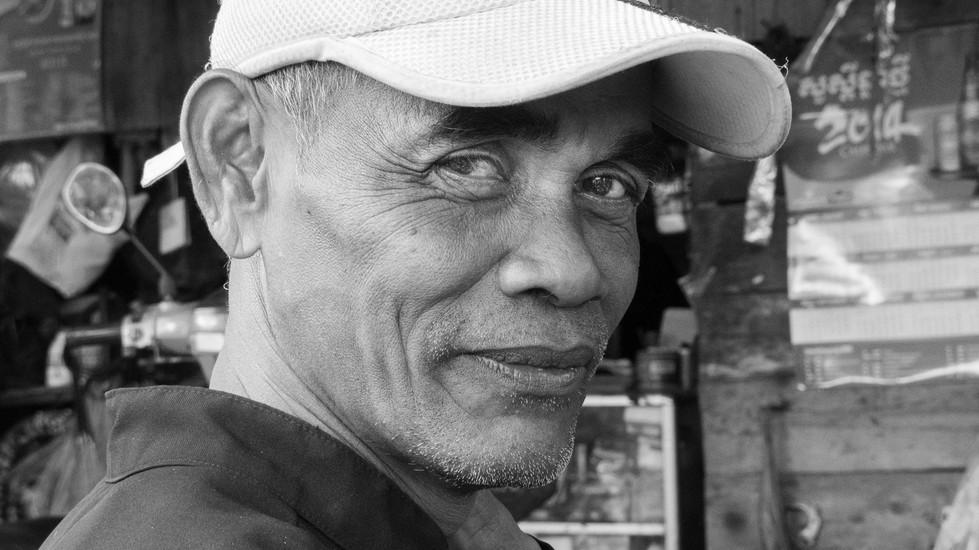 A Man in a Rural Village in Cambodia